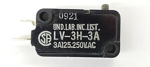 Omron LV-3H-3A ,SPST- OFF-(ON) Push Button Plunger micro switch 3A @ 250 V AC