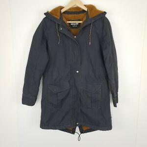 Patagonia Women's Coat Prairie Dawn Parka Fleece Lined Grey Teddy Size XS