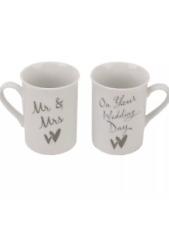 Juliana set of two wedding mugs gift, engagement gift ,couples present