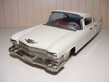 """RARE and BIG 11"""" Bandai Japan tin friction 1959 Cadillac  NEAR MINT"""