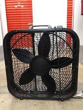 """Lasko B20301 20"""" Box Fan 3 Speeds - Black"""