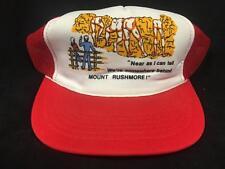 Vintage 1980s BEHIND MOUNT RUSHMORE FUNNY VINTAGE ORIGINAL SNAPBACK HAT RED