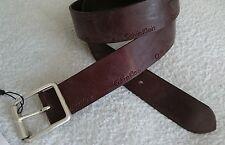 """Cinturón, Calvin Klein, Cuero Genuino, Marrón, Tamaño 100cm/40"""", logotipo, la Caja, Para Hombre"""