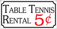 Table Tennis Rental- 6x12 Aluminum Vintage style Pool Bar Billards sign