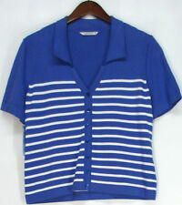 Knit Striped 100% Cotton Tops & Blouses for Women