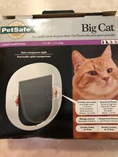 PetSafe BIG Cat Door 4 Way Lock Flop 1 to 25 lbs unused open box