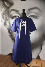 NEW WITH TAG & OTHER STORIES NAUTICAL SAILOR STYLE DRESS BARDOT INDIGO A-LINE SK