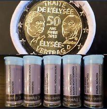 5 x 2 Euro Gedenkmünzen / Sondermünzen Sichtrolle 2013 50 Jahre Elysee-Vertrag