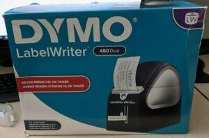 DYMO LabelWriter 450 Duo Monochrome Thermal Label Printer w/Multi-Purpose Labels