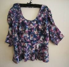 City Chic Plus Polyester Floral Women's Tops & Blouses