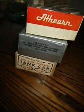 Lot of (3) Train Kit Railroad Cars. As is. Parts or Restore.