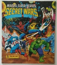 MARVEL SUPER HEROES SECRET WARS 1986 Panini STICKER ALBUM