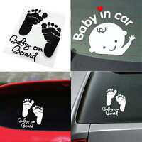 """Baby on Board """"Baby in car"""" Child Window Bumper Car Sign Decal Sticker Vinyl New"""
