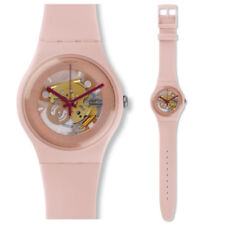 SWATCH teinte of Rose Montre suop107 Analogue Montre squelette Silicone Rose