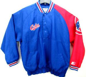 Vintage Chicago Cubs Starter Men's Size Large Snap Button Pullover Jacket MLB