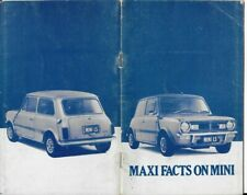 MINI LS & S 1977 SALES MAN FACTS POCKET SIZE AUSSIE BROCHURE BOOK FROM 1977