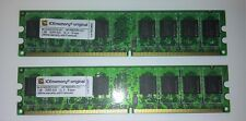 kit memoria ram Iceberg tecnology 2x1gb ddr2 533 cl4  AP-PMDDR2-G01 test ok