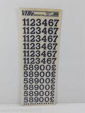10 FOGLI TRASFERELLI TRASFERIBILI VIBO HELVETICA HELMIE NERO 866 mm 15,9 NUMERI
