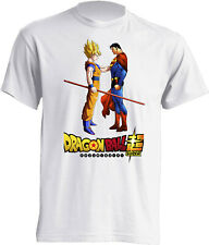 CAMISETA NIÑOS DRAGON BALL GOKU SUPER SAIYAN CONTRA SUPER MAN T-SHIRT BOYS