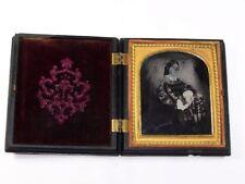 Daguerréotype 19ème ambrotype photographie portrait de femme
