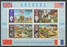 GRENADA SGMS404 1970 25c 25th ANNIV OF END OF SECOND WORLD WAR IMPERF ERROR MNH