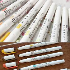 5 Color Set - Zebra Mildliner Soft Color Double-Sided Highlighter Marker 3 Kinds