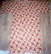 Carnation Japanese Cotton Kimono Yellow Orange White
