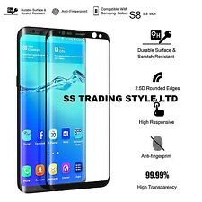 For Samsung Galaxy S8 Glass Screen Protector Tempered 3D Full Cover Glass 2017