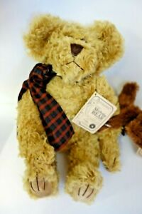 """BOYDS Bears UNCLE GUS & HONEY BUNCH 12"""" Mohair Set Vintage w/tags 1997"""