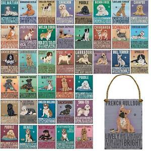 Vintage Style Mini Metal Dog Sign Retro Hanging Plaque Animal Pet Breed  - 9cm