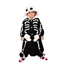 Sazac Skeleton Fleece Kigurumi Costume Pajamas Halloween Children 110cm