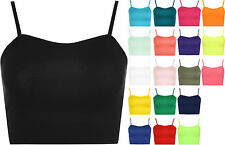 Women's Strappy, Spaghetti Strap No Pattern Cropped Tops & Shirts
