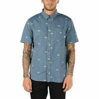 Vans Off The Wall Men's Dress Blue Houser S/S Woven Shirt (Retail $44.50) Small