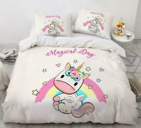 3D Cute Angel Wings Unicorn Baby KEP5938 Bed Pillowcases Quilt Duvet Cover Kay