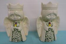 Ceramic angel candle holder vintage holiday Christmas Angels