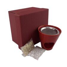 Geschenkset Räucherstövchen rot mit Weihrauch - Räucherwerk