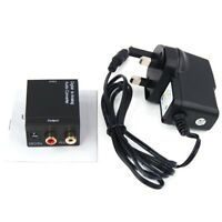 UK Digital Optical Coax Coaxial to Analog RCA L/R Audio Converter Adapter X D4S0