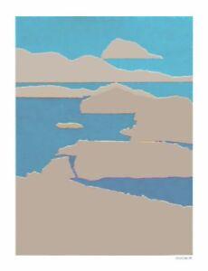GLACIAL MELTDOWN - Acrylic Painting & Mixed Media Unique Art By Arthur Secunda