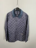 BARBOUR LIDDESDALE QUILTED Jacket - Large - Navy - Great Condition - Mens
