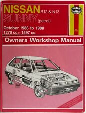Haynes - Nissan Sunny B12 & N13 Petrol / Oct 1986 to 1988 Owners Workshop Manual