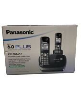 Panasonic 6.0 PLUS KX-TG6512 1.9 GHz Dual Handsets Single Line Cordless Phone
