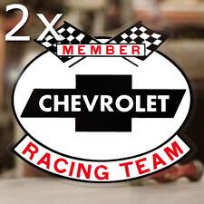 2x Stück Chevy Racing Team Aufkleber Sticker MOON Hemi Mopar V8 Old School 427