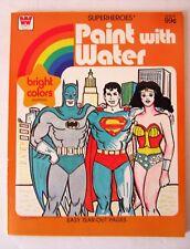 Livre vintage DC comics a peindre