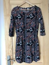 H&M Patterned Dress With 3/4 Sleeves And Pockets 10