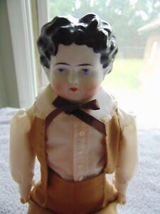 "18"" Antique German c1880s ABG China Shoulder Head Alt Beck Gottschalk Boy Doll"