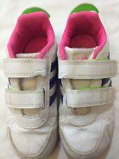 Adidas - scarpe da ginnastica - colore bianco tre righe viola - N° 27 - USATE