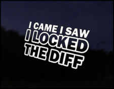 Came, Saw, Locked Diff Car Decal Sticker JDM Vehicle Bike Bumper Graphic Funny