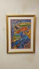 """"""" Exodus """" Framed  Serigraph by Rephael Abecassis"""
