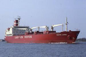 35mm slide of SHIPS/CARGO/TANKER/FERRIES:REEFER JAMES