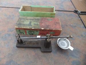 Vintage Antique Redding Reloading Powder & Bullet Scale In Original Box